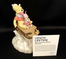 "Lenox Disney ""Winnie the Pooh Sledding Friends Musical"" Figurine (Excellent)"