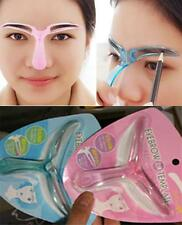 Eyebrow Grooming Stencil Kit Template Women Makeup Shaping Shaper DIY Tool