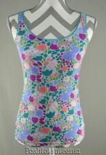 Matilda Jane XS Tank Top Peri Love Its A Wonderful Parade Floral Womens NEW kfp1
