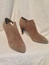 NIB Louis Vuitton Camel Suede Gold V Collar Ankle Boot Shoes 8.5, 9 - SOLD OUT!!