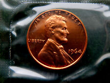 1964 USA Lincoln 1 Cent Coin  BU Mint  SB1989