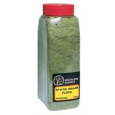 Woodland Scenics FL635 Static Grass Flock Medium Green 32 oz Shaker - NIB