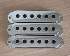 52mm Chrome 3 Single Coil ST Strat Guitar Pickup Covers fits Stratocaster