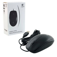 Logitech B100 USB Optical Mouse Precision 800dpi Black. Brand New 910-003357