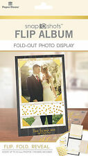 Paper House WEDDING FLIP ALBUM Fold-Out Photo Display scrapbooking INTERACTIVE