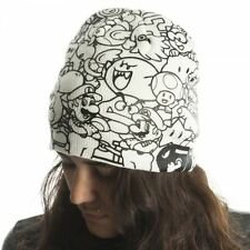 Nintendo Officiel Tout Over Imprimé Super Mario Blanc Bonnet - Noir Blanc