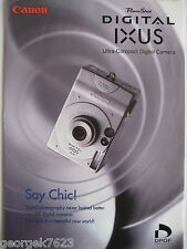 Canon Ixus digital camera sales brochure - 6 pages - 2000