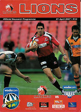 Lions (Transvaal) v Bulls (N Transvaal) - Super21 Apr 2007 Rugby RUGBY PROG