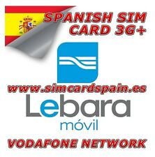 LEBARA SPANISH PAYG PREPAID MOVIL 3G SIM CARD INTERNET DATA FOR SPAIN