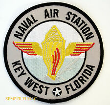 NAVAL AIR STATION NAS KEY WEST FL COLLECTOR PATCH US NAVY ARMY USS PIN UP F18