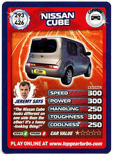 Nissan Cube #293 Top Gear Turbo Challenge Trade Card (C362)