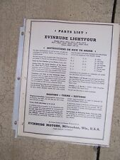 1941 Evinrude Lightfour Outboard Parts List MORE BOAT STUFF IN OUR STORE  S