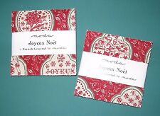 "2 Charm Packs ""JOYEUX NOEL"" by Moda, 42 ~ 5"" x 5"" 100% Cotton Quilt Fabric"