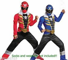 Power Rangers Super Megaforce Red Blue Reversible Muscle Costume 7 8 M NEW
