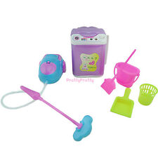 Washing Machine Vacuum Broom Mop Bucket Cleaning For Barbie Kelly Doll Dollhouse