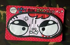 ANGRY DONT WAKE ME UP KAWAII CUTE EYE MANGA FACE SLEEP EYE BEDTIME MASK