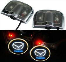 2 X 2014 6th Gen Car Door Ghost Shadow Laser Projector LED logo Light for Mazda
