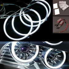 For BMW E36 E38 E39 E46 4pcs 6000k White CCFL LED Angel Eyes Halo Ring Light Kit