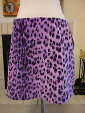 NWT MOSCHINO Pink Purple Animal Print Mini Skirt Size 10 SHIPS FREE!!