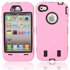 PINK HARD Shock Bullet Proof CASE + Screen Protectors for IPHONE 4 4S 4G Safety
