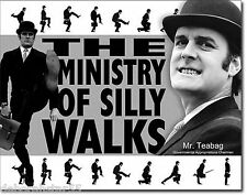 MONTY PYTHON Ministry of Silly Walks 70s Icon Poster Retro Metal Tin Sign Large