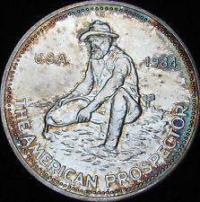 1984 Engelhard 1 Oz Fine Silver The American Prospector Round - Free Shipping