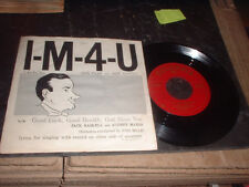 45RPM Columbia 40628 Jack Paar + Jack Haskell, IM4U / Good Luck, Health God B E-