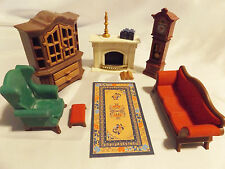 Playmobil Victorian Livingroom Furniture for 5300 Mansion Doll house, Fireplace