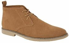 New Mens Panama Synthetic Suede Casual Lace Up Ankle Desert Boots