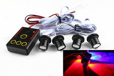 4 LED Red & Blue Car Emergency Warning Eagle Eye Strobe Flash light Lamp 4W HOT