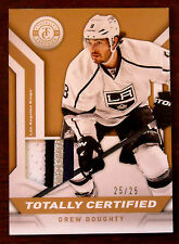 2013/14 DREW DOUGHTY PANINI TOTALLY CERTIFIED 4 COLOR PATCH 25/25 EBAY 1/1!!