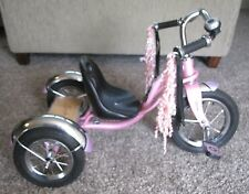 Schwinn Roadster Tricycle Hot Pink Retro - Modern Style, Chrome, Flares, Deck