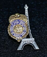 Dept of the Air Force OSI Special Agent Pin (Paris, France Eiffel Tower & Badge)
