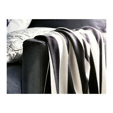IKEA Eivor Black White Striped Throw Blanket 170x125cms NEW