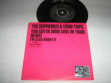 THE SUPREMES FOUR TOPS 45 TOURS HOLLANDE MOTOWN