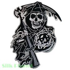 "9x12"" Son of Anarchy Skull Fear Reaper Biker MC Back Patch Motorcycle Vest"
