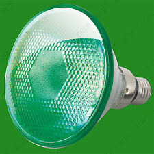 80W Par 38 Green Coloured Halogen Flood Reflector ES E27 Light Bulb Lamp