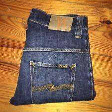 Nudie THIN FINN Slim Skinny Blue Jeans Size W30 L34