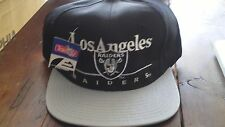90'S DEADSTOCK VTG LA LOS ANGELES RAIDERS SNAPBACK HAT CAP NFL BAR Script NWT