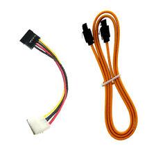 SATA Cable + SATA Power Cable 4-Pin IDE to 15 Pin Serial ATA Adapter
