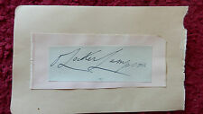POLITICIAN OLIVER LOCKER-LAMPSON AUTOGRAPH