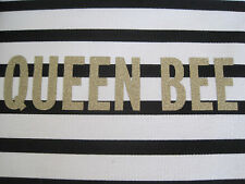 """KATE SPADE NEW YORK """"DOWN THE RABBIT HOLE""""  QUEEN BEE CLUTCH COSMETIC BAG, NWT"""