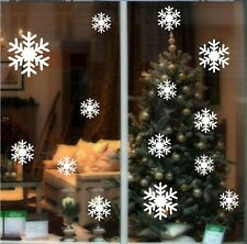 White Snow Frozen Decal Wall Sticker Vinyl Art Christmas Window Decals Decor
