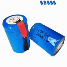 5x 1600mAh Ni-CD 4/5SC SubC Sub C 1.2V Rechargeable Battery with Tab univerisal