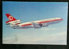 1978 Malaysia Airlines System MAS ticket DC-10 postcard Hong Kong used