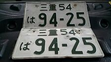 GENUINE PAIR VINTAGE JDM JAPANESE LICENSE PLATES FOREIGN ASIA CARS NUMBER 94-25