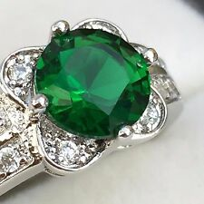 Emerald Topaz 18CT WHITE GOLD FILLED RIND