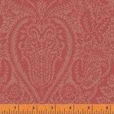 Windham Dover Flannel Rose Brick Red Rust Paisley Floral Quilt Fabric Sewing
