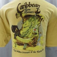 Crazy Shirts Florida Keys Pirates Carribean Rum Runners T-Shirt XXL Beer Dyed