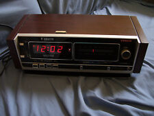 Works! Great Sound! Vintage Zenith Clock Radio H480W Am Fm Stereo TableTop Shelf